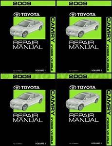 2009 Toyota Camry Hybrid Wiring Diagram Manual Original