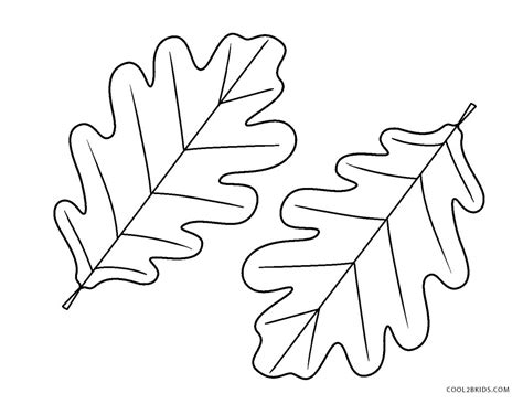 printable leaf coloring pages  kids coolbkids