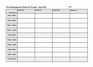 Nursing schedule template 7 free word excel pdf for Nursing time management template