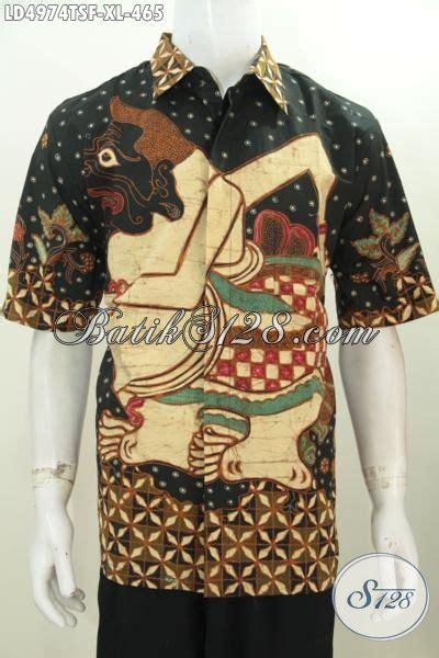 Kalung Motif Semar hem batik lengan pendek motif wayang semar busana batik