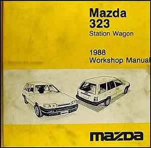 1988 Mazda 323 Wagon Original Shop Repair Manual 88