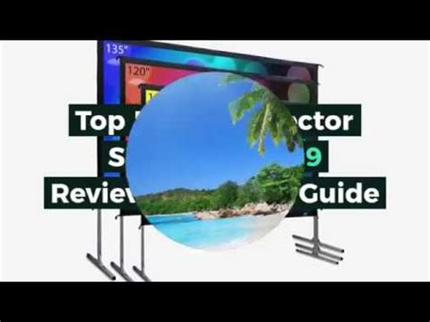 Top 5 Best Projector Screens in 2019 Reviews Buyer s