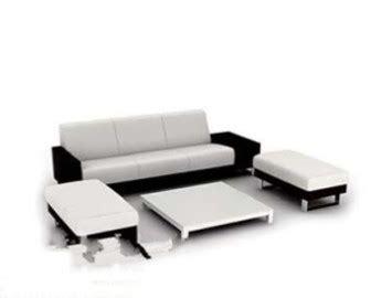 modern black white sofa max model dsmax