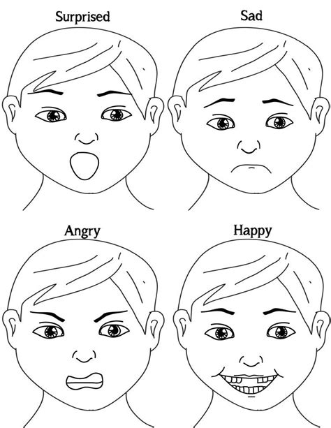exploring emotions free printable probably crafting happy sad angry surprised how