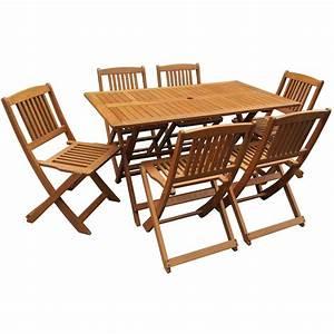 salon de jardin bois exotique quothongkongquot table pliante With salon de jardin exotique