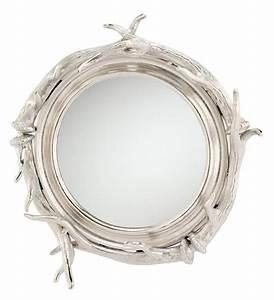 Spiegel Holz Rund : spiegel rund mit silbernen hirsch geweih 50x50cm ~ Whattoseeinmadrid.com Haus und Dekorationen