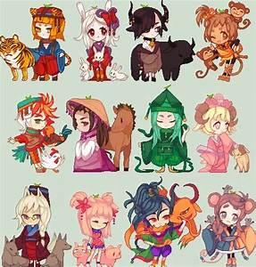 Zodiacal chibi animal girls | Comics/anime | Pinterest