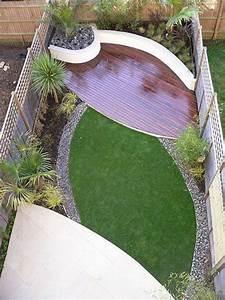 idee deco petit jardin exterieur paysager son jardin With idee amenagement jardin rectangulaire 7 amenagement dune terrasse deco avec un voile dombrage