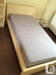 ikea malm birch twin bed and sultan mattress for sale in