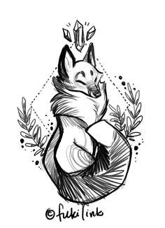 Drawing Ideas   Creative, Fox tattoo and Drawings