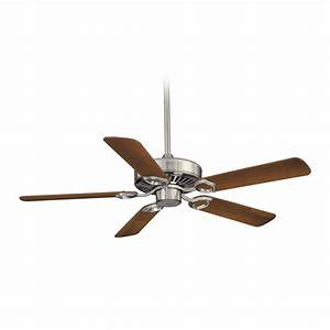 Ceiling fans without lights minka : Ceiling fan without light in brushed nickel finish f