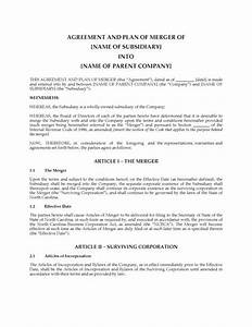 North carolina agreement and plan of merger legal forms for Merger legal documents