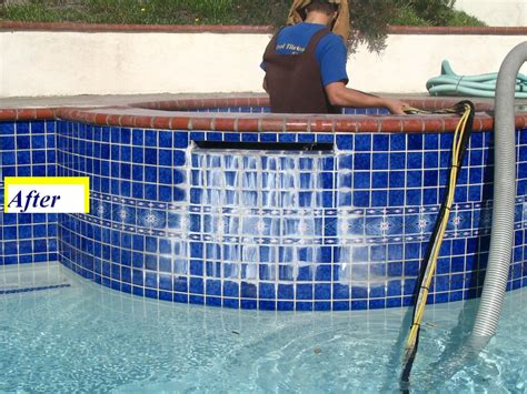 before pool tile cleaning yelp