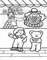 Carnival Coloring Pages Games Activity sketch template