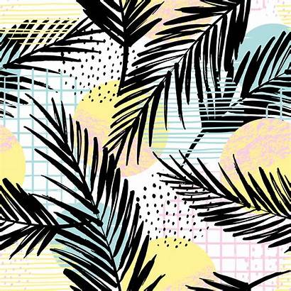 Trendy Pattern Geometric Elements Palm Vector Seamless