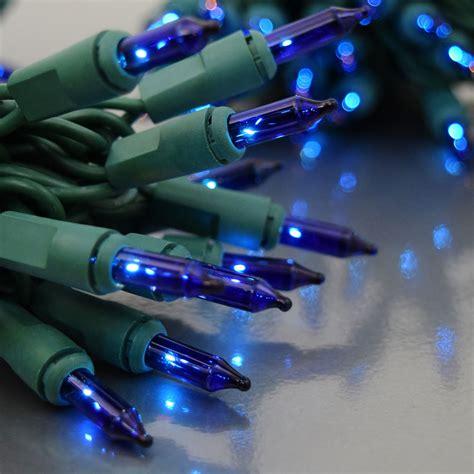 blue mini lights 150 count blue string lights green cord