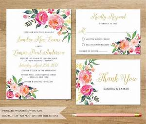Wedding invitations in pdf free premium templates for Watercolor flower wedding invitations free