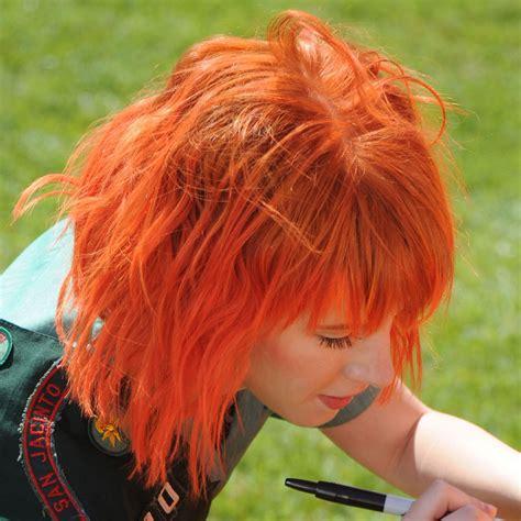 Hayley Williams Hair Images Short Bright Orange Hair