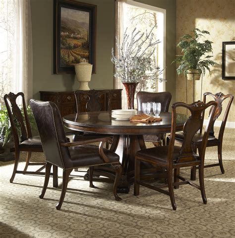 leather upholstered dining arm chair by furniture