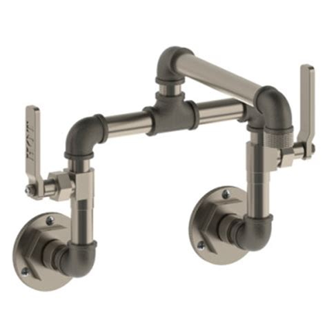 watermark kitchen faucets watermark 38 2 25 elan vital bridge wall mount kitchen faucet