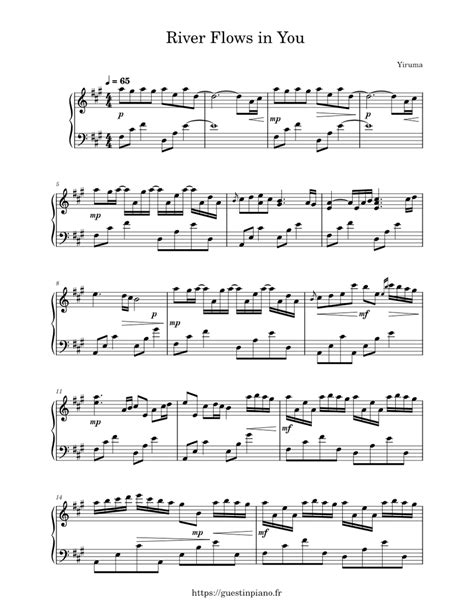 River flows in you violin 3 viola treble clef by larry moore orchestra digital sheet music. River Flows in You - Yiruma sheet music for Piano download free in PDF or MIDI