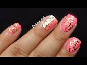 Pink & Gold Nail Art | Born Pretty Store Review - YouTube