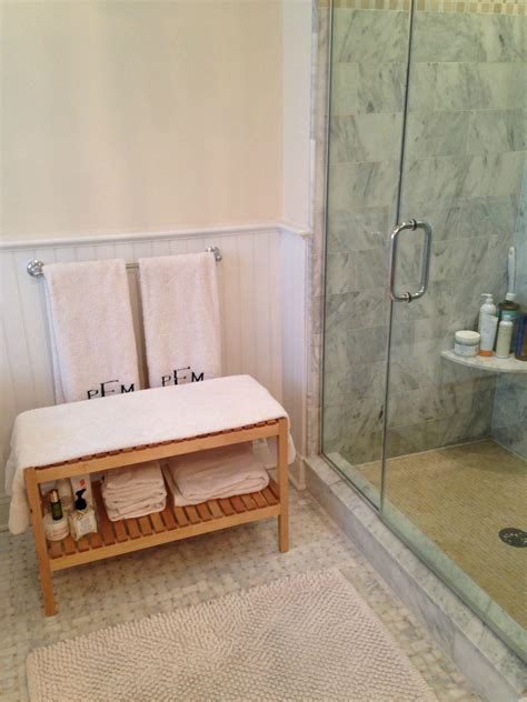 cute ikea bathroom bench helped cure  dry skin