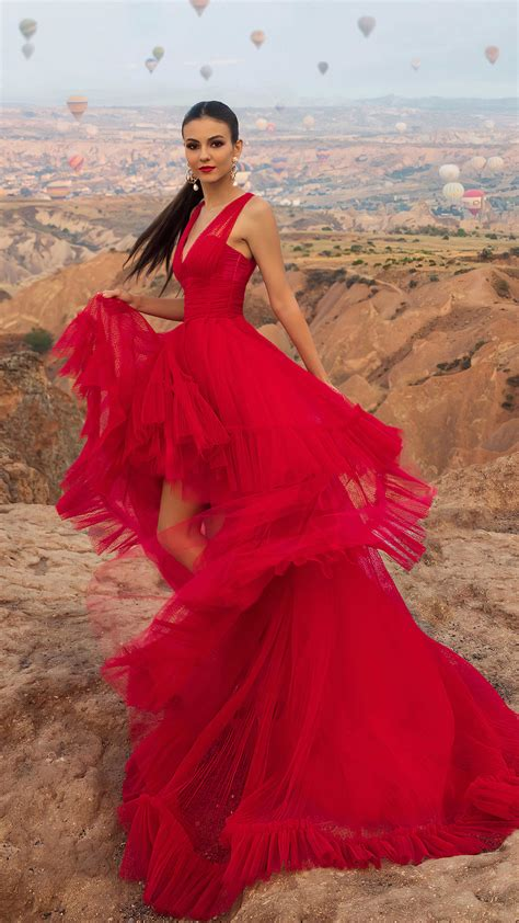 victoria justice  beautiful red dress  ultra hd mobile