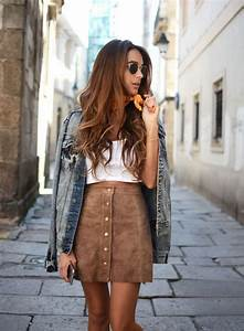 Best 20+ Brown Skirt Outfits ideas on Pinterest | Striped skirt outfits Striped pencil skirts ...