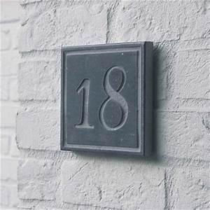Plaque Numero Maison : plaque carr e num ro de rue en pierre naturelle square 3 avec num ro de maison ~ Teatrodelosmanantiales.com Idées de Décoration