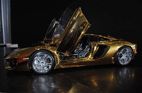 gold lamborghini with diamonds 46 crore rupees gold lamborghini aventador awaits new