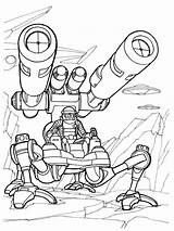 Pages Coloring Robots Boys Robot Printable Mycoloring sketch template