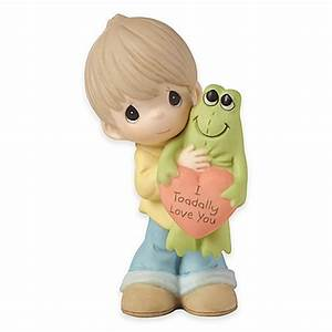 "Precious Moments® ""I Toadally Love You"" Boy Figurine - Bed ..."