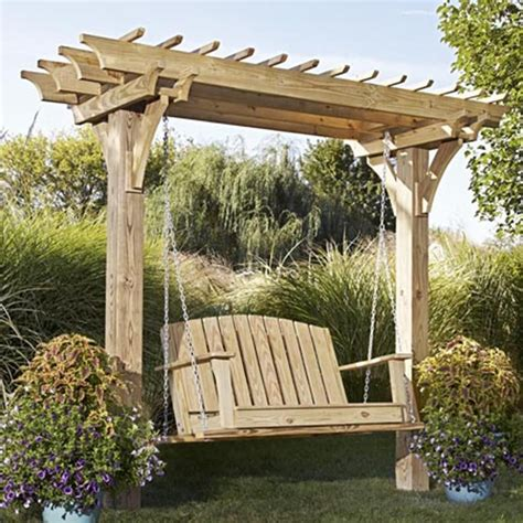 Outdoor Arbor by Easy Swinging Arbor With Swing Woodworking Plan From Wood