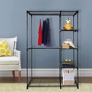 Closet, Organizer, Storage, Rack, Portable, Clothes, Hanger, Home, Garment, Shelf, -, Walmart, Com