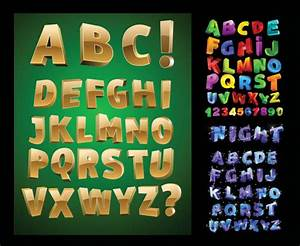 three dimensional letters vector download free vectorpsd With 3 dimensional letters