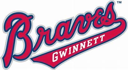 Braves Atlanta Gwinnett Logos Clipart Script Wordmark