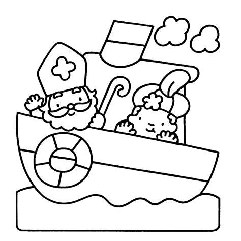 Kleurplaat Sint En Piet Op Fiets by Leuk Voor Sint En Piet Op De Pakjesboot