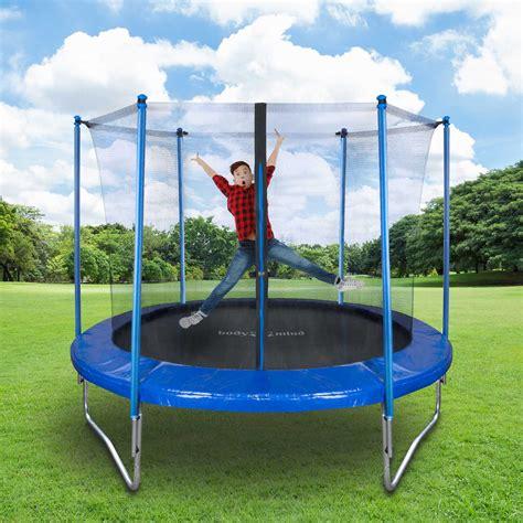 outdoor garten trampolin set  cm xxl mit sicherheits