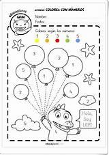Vocales Numeros Colorear Colorea Preescolar Actividades Fichas Infantil Worksheets Imagenes Hojas Trabajo Kindergarten Actividad Numero Educacion Letras Primavera Gratis Educativas sketch template