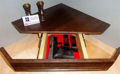 secret compartment gun shelf  nj concealment furniture  projects corner shelves