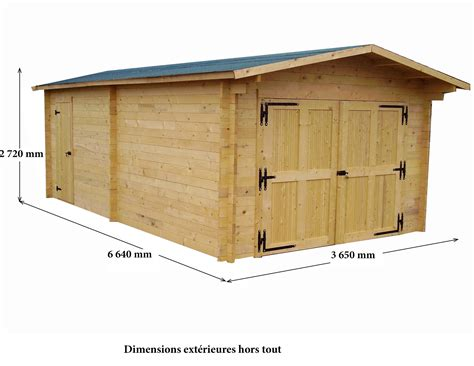garage bois vectura 3 65x6 64m 24 23m2 abrirama ve3562 abrirama fr l abri de jardin moins cher