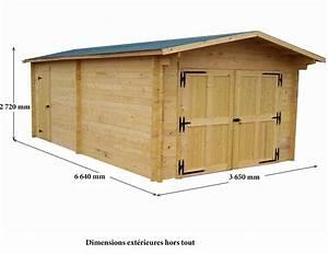 Garage Bois 20m2 : garage bois vectura 3 65x6 64m 24 23m2 abrirama ve3562 ~ Melissatoandfro.com Idées de Décoration