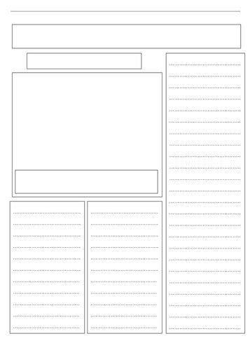 blank newspaper template for word a blank newspaper template by ljj290488 teaching resources tes