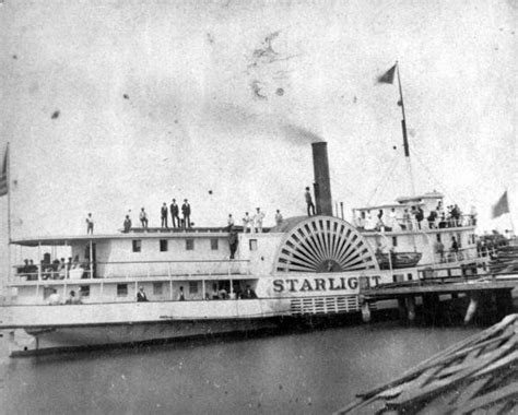 Barco A Vapor Steamboat by Florida Memory Side Wheel Steamboat Quot Starlight Quot