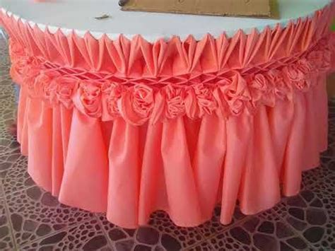 table skirting design youtube beautiful table