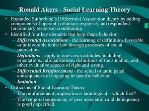 Social Learning Theory Akers Ppt Social Process Theories Of Crime Powerpoint
