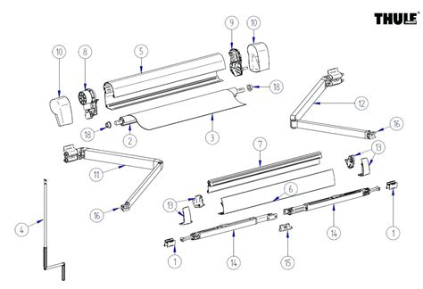 Dometic Power Awning Parts Diagram Rv Awning Parts Diagram