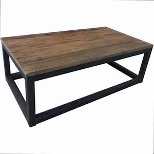 Table Bois Et Fer : table basse bois pas cher ~ Premium-room.com Idées de Décoration