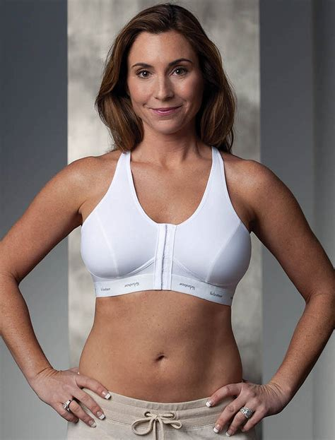 White Sports Bra For Large Breasts